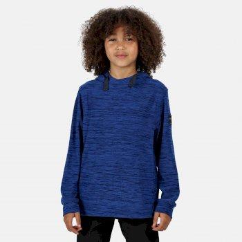 Kids' Kade Funnel Neck Lightweight Hooded Fleece Nautical Blue