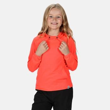 Dziecięca bluza z kapturem Eugina koralowa