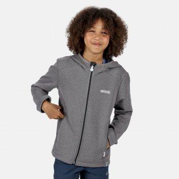 Kids' Orbiter Mid Weight Full Zip Hooded Fleece Rock Grey