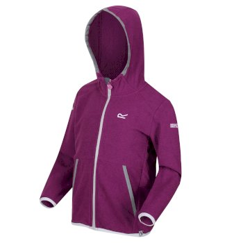 Kids' Thirl Full Zip Hooded Fleece with Reflective Trim Winberry