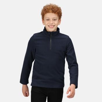 Kids' Cabe Half Zip Fleece Navy Rib