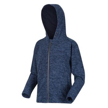 Kids' Harlem Full Zip Hooded Fleece Navy Marl