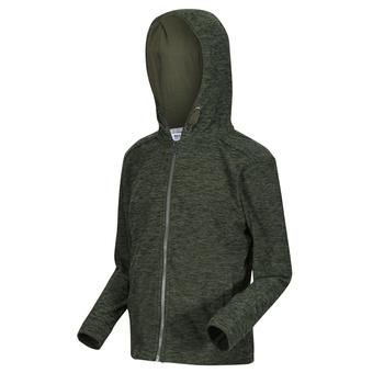 Kids' Harlem Full Zip Hooded Fleece Racing Green Marl