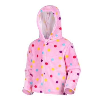 Kids' Jollie Full Zip Hooded Fleece Sweet Lilac Pompoms