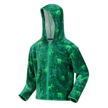 Kids' Jollie Full Zip Hooded Fleece Jelly Bean Dinosaur