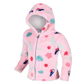 Kids' Jollie Full Zip Hooded Fleece Pastel Pink Toucan
