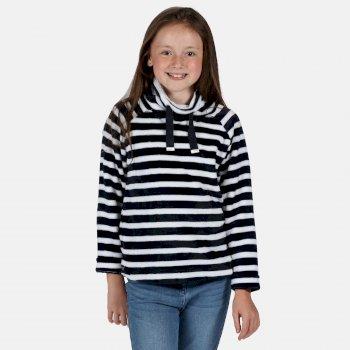 Kids' Heleena Velour Overhead Fleece  Navy Stripe