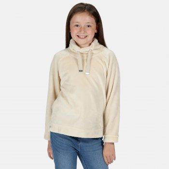 Kids' Heleena Velour Overhead Fleece  Light Vanilla