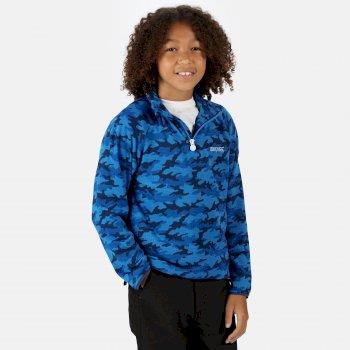 Dziecięca bluza Highton niebieska moro