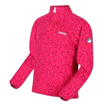 Dziecięca bluza Highton różowa w cętki