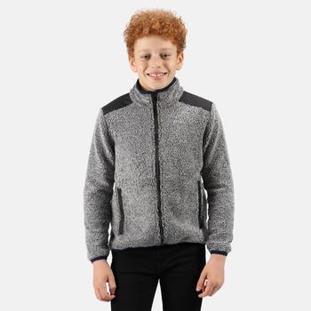 Kids' Mykelti Full Zip Fleece Rhino Marl Black