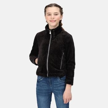 Kids' Kazumi II Full Zip Fleece Black Plait Fluffy