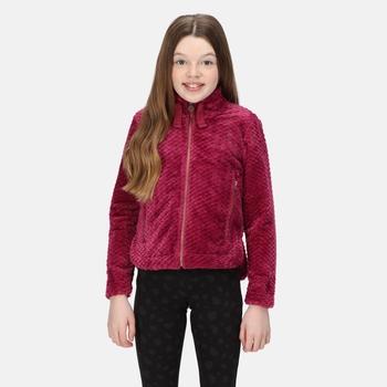 Kids' Kazumi II Full Zip Fleece Raspberry Radiance Plait Fluffy