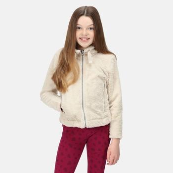 Kids' Kazumi II Full Zip Fleece Light Vanilla Linear