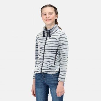 Kids' Kazumi II Full Zip Fleece Navy Burn Out