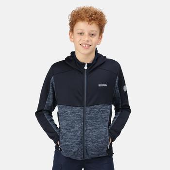 Kids' Dissolver IV Full Zip Hooded Fleece Dark Denim Navy