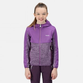 Kids' Dissolver IV Full Zip Hooded Fleece Hyacinth Purple Sapphire Dark Aubergine