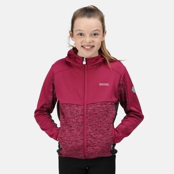 Kids' Dissolver IV Full Zip Hooded Fleece Fuchsia Raspberry Radiance