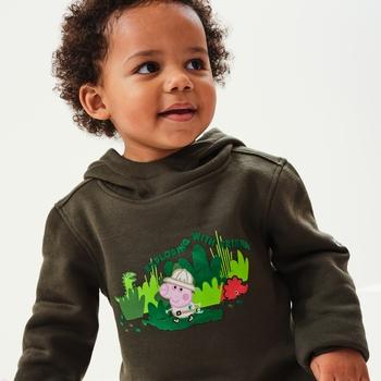 Dziecięca bluza Peppa Graphic ciemne khaki