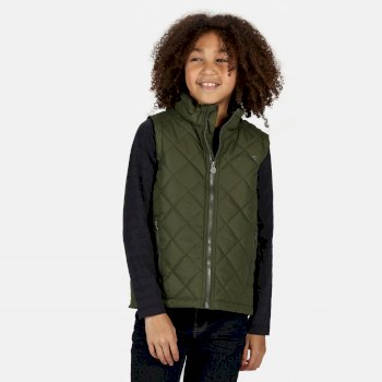 Kids' Zion Quilted Insulated Gilet Racing Green