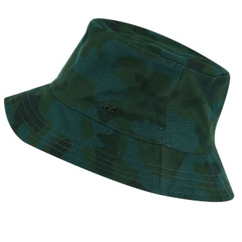 Kids' Crow Coolweave Cotton Canvas Hat Racing Green Camo