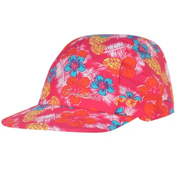 Kids Protect Sunshade Neck Protector Cap Hot Pink