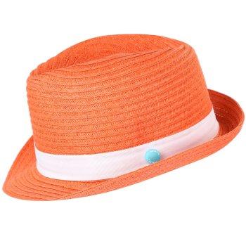 Kids Takiyah Hat Neon Peach White