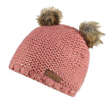 Hedy Lux Acrylic Knit Hat Dusty Rose