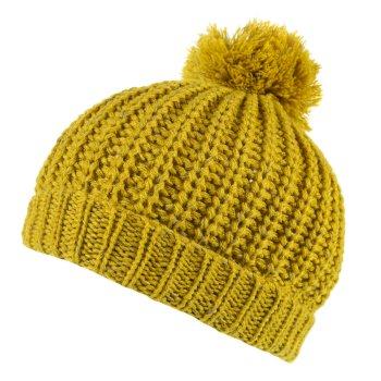 Luminosity II Reflective Knit Bobble Hat Mustard Seed