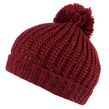Luminosity II Reflective Knit Bobble Hat Delhi Red