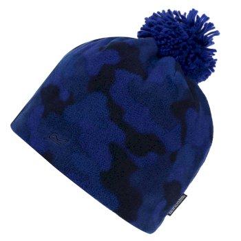 Kids' Fallon Printed Fleece Hat Royal Blue Camo
