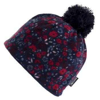 Kids' Fallon Printed Fleece Hat Navy Ditsy Floral