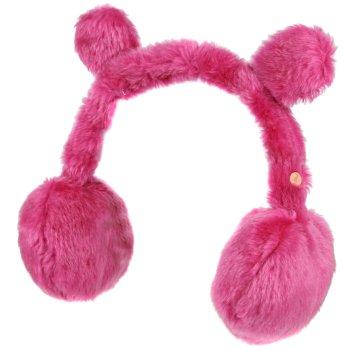 Ezora Fluffy Fleece Ear Muffs Dusty Rose