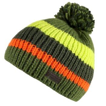 Davin Acrylic Knit Pom Pom Hat Cypress Green