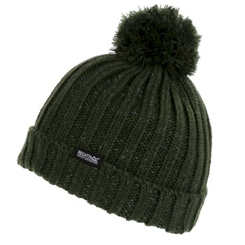 Kids' Luminosity III Reflective Bobble Hat Dark Khaki