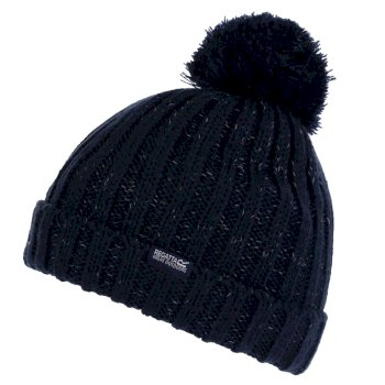 Kids' Luminosity III Reflective Bobble Hat Navy