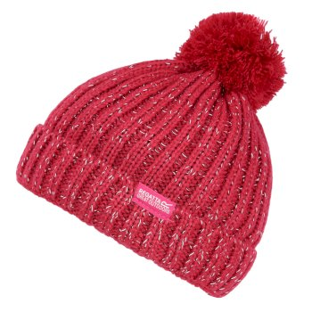 Kids' Luminosity III Reflective Bobble Hat Dark Cerise