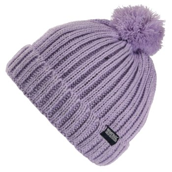 Kids' Luminosity III Reflective Bobble Hat Lilac Frost
