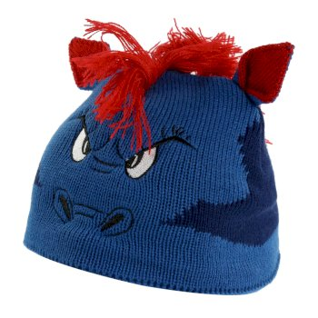 Kids' Animally III Knitted Beanie Hat Prussian Blue Dragon
