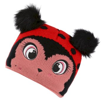 Kids' Animally III Knitted Beanie Hat Lollipop Ladybird