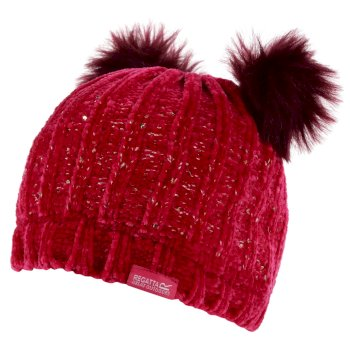 Kids' Hedy Lux II Sequined Bobble Hat Duchess Pink