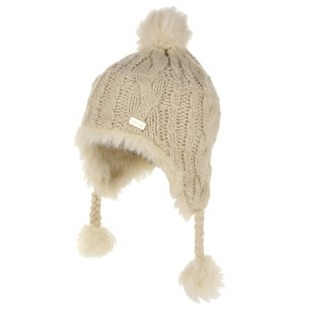 Kids' Cassiana Fur Lined Chullo Hat Light Vanilla