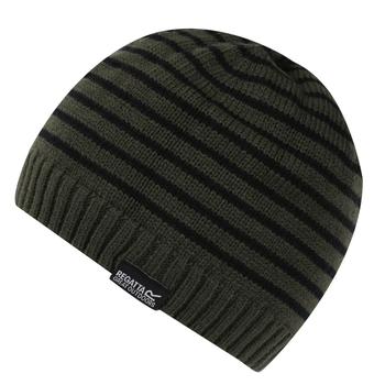 Kids' Tarley Fleece Lined Knitted Hat Khaki Black