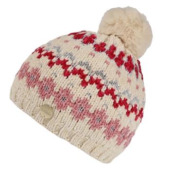 Kids' Hedy Lux III Fleece Lined Knitted Bobble Hat Light Vanilla