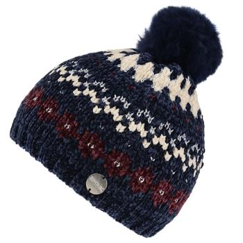 Kids' Hedy Lux III Fleece Lined Knitted Bobble Hat Navy