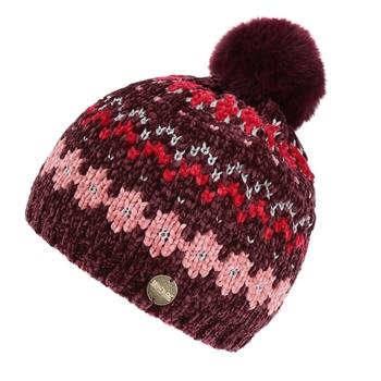 Kids' Hedy Lux III Fleece Lined Knitted Bobble Hat Fig