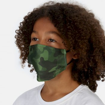 Kids' Face Covering 3 Pack Racing Green Camo