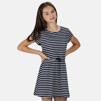 Kids' Catriona Short Sleeved Dress Navy Stripe