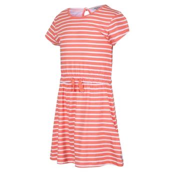 Kids' Catriona Short Sleeved Dress Fusion Coral Stripe