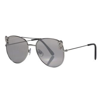 Kids' Lazuli Aviator Sunglasses Silver Toucan